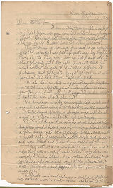 Letter to mother, October 10, 1915